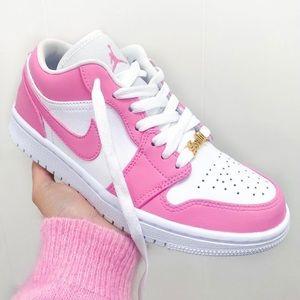 ⚡️Custom Hot Pink Air Jordan 1 Lows⚡️